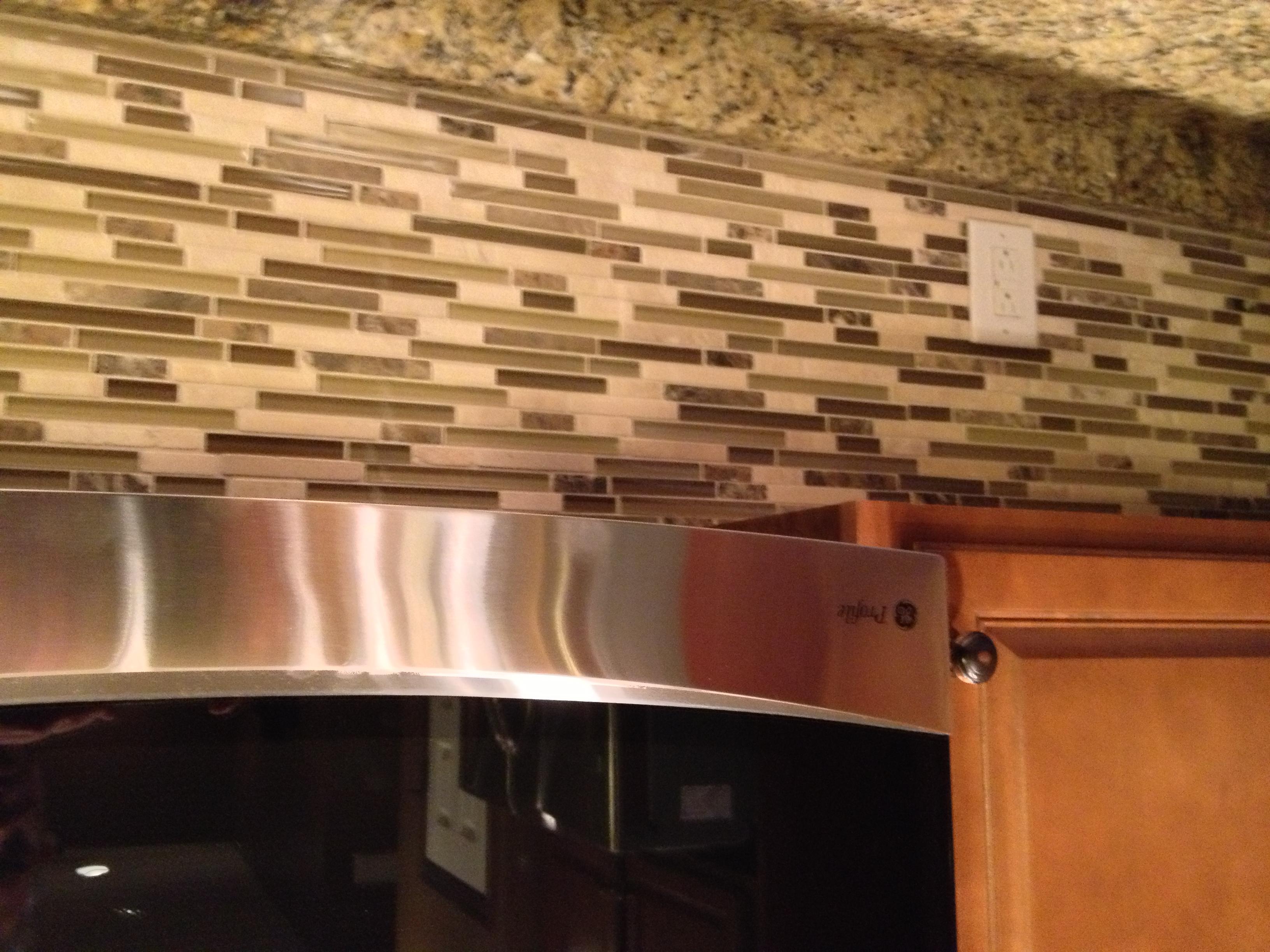 tile backsplash the insidewall